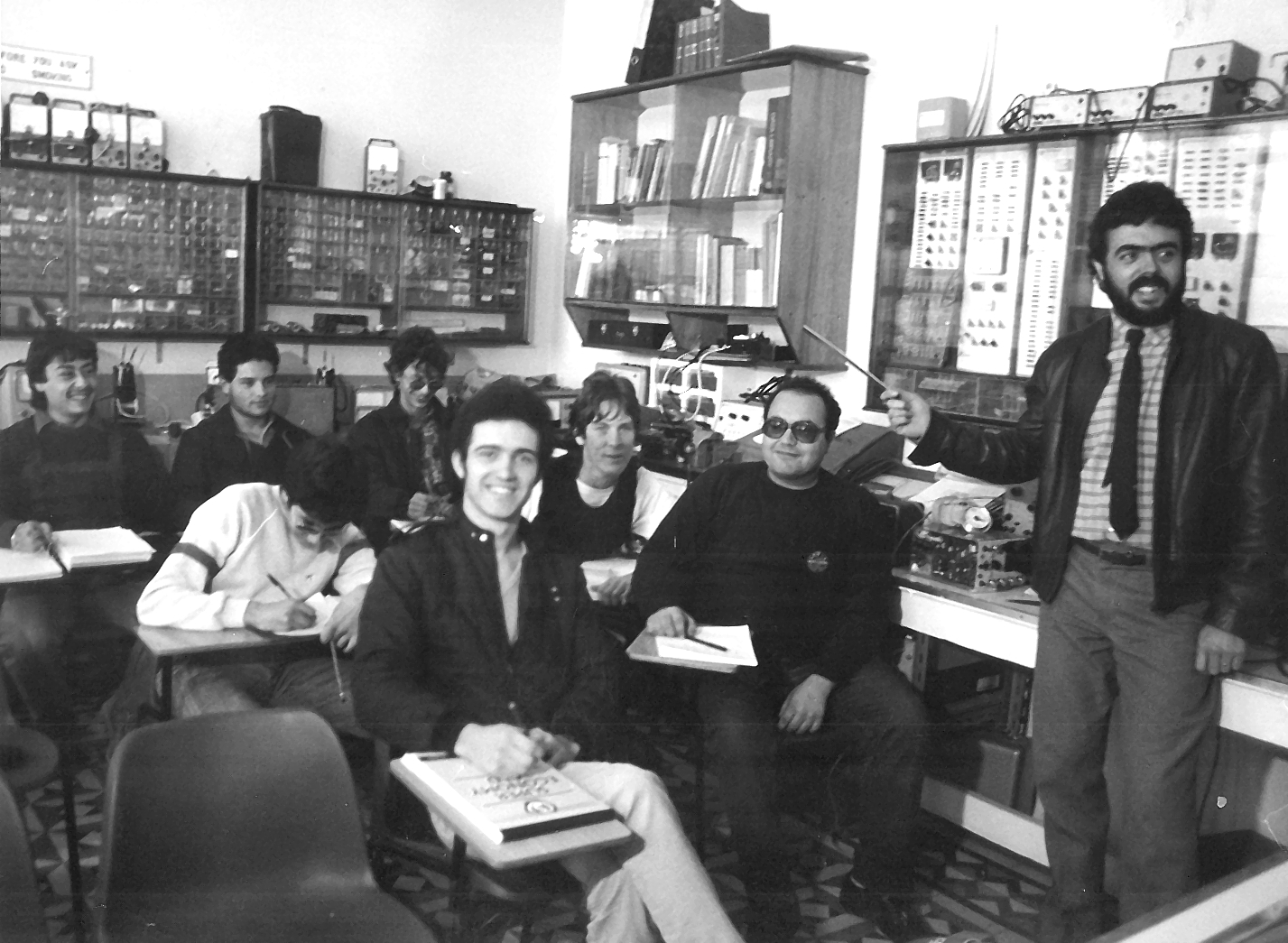 Image of a class in session in the College's earlier days